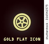 wheel. gold flat vector icon.... | Shutterstock .eps vector #316542575