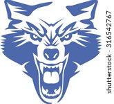 wild wolf. vector graphics | Shutterstock .eps vector #316542767
