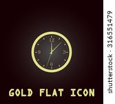 time and clock. gold flat...