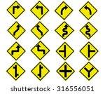traffic signs vector set on... | Shutterstock .eps vector #316556051