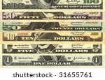 us dollars money background | Shutterstock . vector #31655761