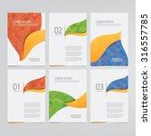 brochure  annual report  flyer  ... | Shutterstock .eps vector #316557785