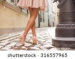 elegant lady wearing high heels | Shutterstock . vector #316557965