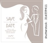 wedding invitation card with... | Shutterstock .eps vector #316559411