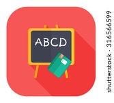 teaching board icon  | Shutterstock .eps vector #316566599