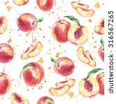seamless fruit pattern with... | Shutterstock . vector #316567265