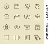 box icon set | Shutterstock .eps vector #316569875