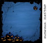 blue halloween background with... | Shutterstock . vector #316575569
