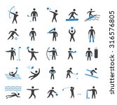 silhouettes figures of athletes ... | Shutterstock .eps vector #316576805
