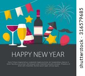 happy new year greeting card...   Shutterstock .eps vector #316579685