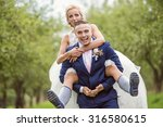 beautiful young wedding couple... | Shutterstock . vector #316580615
