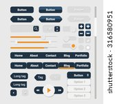 web user interface elements set....