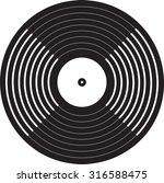 vinyl record | Shutterstock .eps vector #316588475