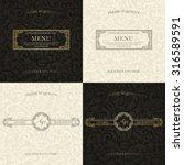 set of vintage backgrounds.... | Shutterstock .eps vector #316589591