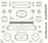 set of decorative vintage... | Shutterstock .eps vector #316589609