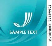 abstract lines logo. letter j... | Shutterstock .eps vector #316599521