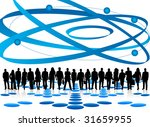 illustration of business people | Shutterstock .eps vector #31659955