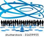 illustration of business people | Shutterstock .eps vector #31659955