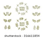 set of hand drawn icons  labels ...   Shutterstock .eps vector #316611854