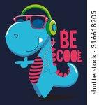 cool dinosaur character design | Shutterstock .eps vector #316618205