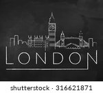 London City Skyline With Chalk...