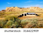 old ranch at semi desert... | Shutterstock . vector #316622909