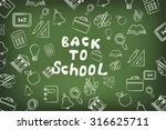 back to school | Shutterstock .eps vector #316625711
