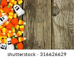 Halloween Candy Side Border...