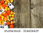 Halloween Candy Side Border...