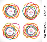 set of colorful round abstract...   Shutterstock .eps vector #316634351