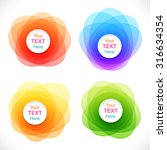 set of colorful round abstract... | Shutterstock .eps vector #316634354