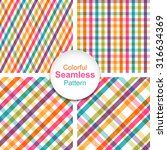 set of colorful striped... | Shutterstock .eps vector #316634369