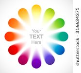 abstract color wheel. | Shutterstock .eps vector #316634375