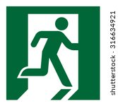plate fire exit vector sign | Shutterstock .eps vector #316634921