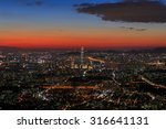 nightscape of seoul viewed from ... | Shutterstock . vector #316641131