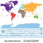 political map of the world... | Shutterstock .eps vector #316652069