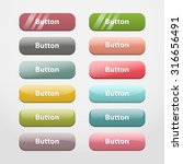 colorful realistic web buttons  ... | Shutterstock . vector #316656491