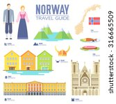 country norway travel vacation... | Shutterstock .eps vector #316665509