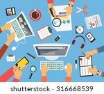 business people. workplace flat ... | Shutterstock . vector #316668539