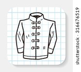chinese suit doodle | Shutterstock .eps vector #316676519