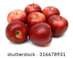 ripe red apple isolated on... | Shutterstock . vector #316678931
