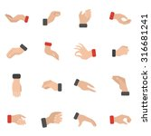 grabbing hand icons set with... | Shutterstock .eps vector #316681241