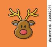 reindeer icon   Shutterstock .eps vector #316683074