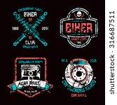 car repair and biker club... | Shutterstock .eps vector #316687511