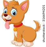 cute fun puppy | Shutterstock .eps vector #316694201