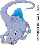 dinosaur spinosaurus cartoon... | Shutterstock .eps vector #316694609