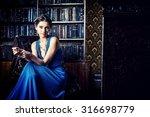 elegant lady wearing evening... | Shutterstock . vector #316698779