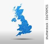 map of united kingdom | Shutterstock .eps vector #316700921