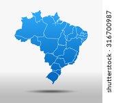 map of brazil | Shutterstock .eps vector #316700987