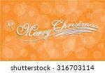 merry christmas hand lettering... | Shutterstock .eps vector #316703114